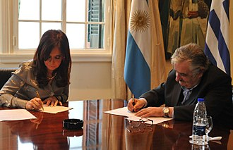 Uruguay River pulp mill dispute - President signed the agreement in July 2010