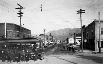 Monrovia–Glendora (Pacific Electric) - Monrovia 1903, Myrtle ave Pacific Electric Rail line
