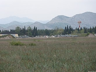 Podgorica Airbase - Image: Montenegrian air force Golubovci airbase