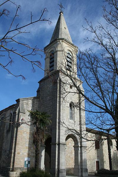 Montoulieu (Hérault) - clocher de l'église de l'Invention-de-Saint-Étienne