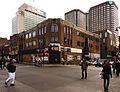 Montréal, 22 déc. 2011. Coin Sud-Ouest de boul. Saint-Laurent et rue Sainte-Catherine. (6592627447).jpg
