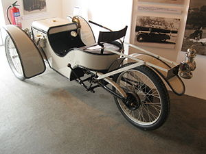 Morgan Motor Company - Rear view, showing swingarm rear suspension