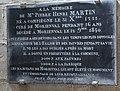 Morienval, church Notre-Dame, commemorative plaque of Pierre Henri Martin.JPG