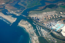 harbor and wetlands from the air