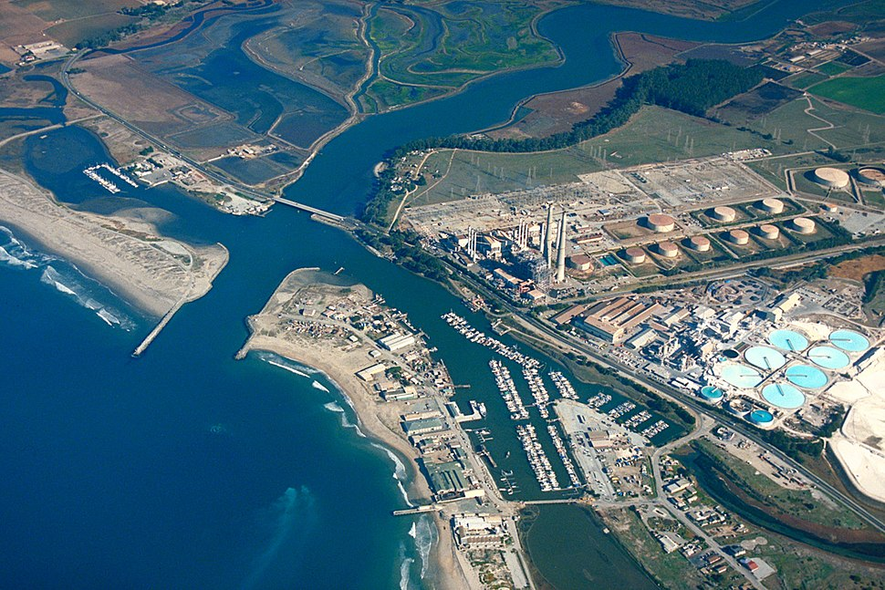 Moss Landing California aerial view