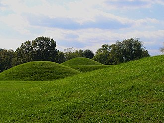 Pre-Columbian era - Hopewell mounds from the Mound City Group in Ohio