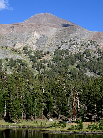 Mount Dana - Mount Dana as seen from the west. The hike to the top goes up this face.