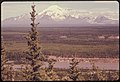 Mount Drum and the Copper River, Looking East to the Wrangell Mountains. Pipeline Route Roughly Parallels the River at This Point About Two Miles West of This Camera Location. Mile 680 near the Alaska Pipeline Route 08-1974 (3971311855).jpg