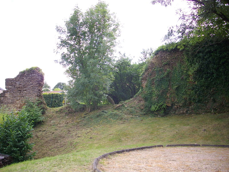 Ruins of Mousson castles (Meurthe-et-Moselle, France)