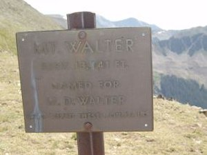 Mount Walter (New Mexico) - Image: Mt Walter
