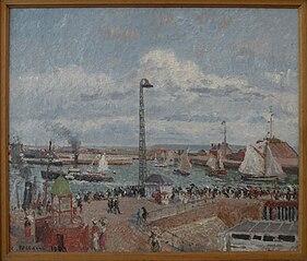 L'Anse drivere (des Pilotes) og bølgebryder, Le Havre, eftermiddag, solrig vejr