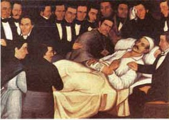 "Francisco de Paula Santander - The death of Santander in Bogota, after a long agony. Making his will, he said: ""I wish I would have loved God as much as I loved my country ."""