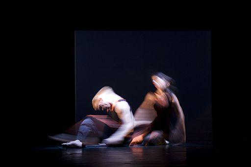 Munich - Two dancers captured in blurred movement - 7816