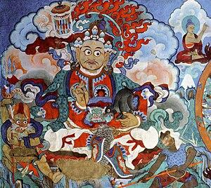 Hemis Monastery - Image: Mural painting, monastery Hemis, Ladakh, India