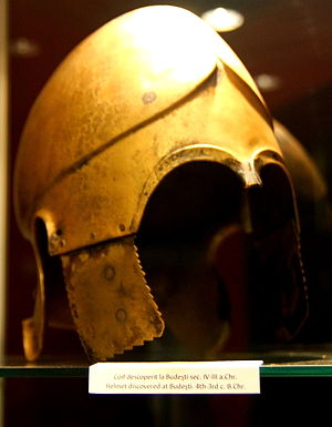 Chalcidian helmet - Chalcidian type helmet, circa 400 BC, discovered on north of Danube.