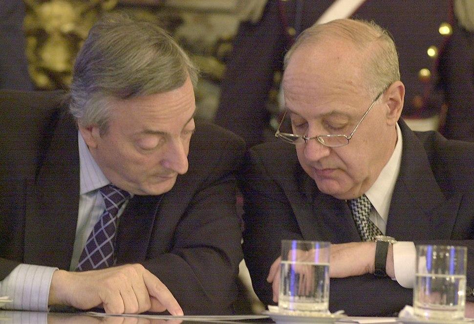 Néstor Kirchner y Roberto Lavagna-Buenos Aires-23 de agosto de 2004