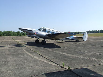 Hamilton Westwind III conversion at an airfield in Tennessee N432U.JPG