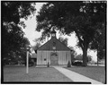 NORTH SIDE, GABLE END WITH BELFRY - Church of the Holy Family, State Route 157, Cahokia, St. Clair County, IL HABS ILL,82-CAHO,1-4.tif