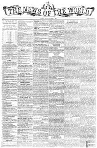 Primera edició de «News of the World», l'1 d'octubre de 1843.