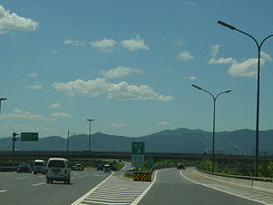 Ring roads of Beijing - The northwestern 4th Ring Road (July 2004 image)