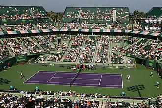 Miami Open (tennis) - A 2009 match between Rafael Nadal and Juan Martín del Potro at Stadium Court