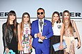 Napoleon Perdis with his daughters at Myer Fashion Spring Launch 2015 (20352011480).jpg