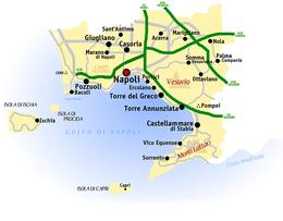 Provincia di Napoli – Veduta. Mappa della ... b38d5bf5d70d