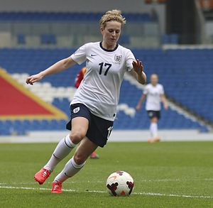 Natasha Dowie - Dowie playing for England in 2014