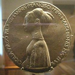 National gallery in washington d.c., pisanello, medaglia di cecilia gonzaga recto.JPG