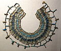 Necklace, Egypt, 26th to 30th Dynasty, about 664-332 BC, faience, carnelian, and limestone beads - Fitchburg Art Museum - DSC08603.JPG