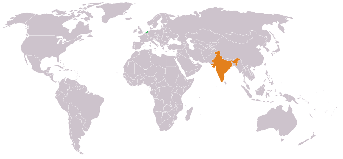 how to call netherlands from india