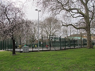 Newington Gardens park in London, England