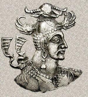 Nezak Huns - Nezak Huns ruler, circa 460-560 CE.