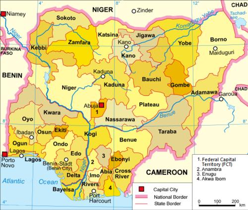 NIGERIA MAPA | Dictionary Bank