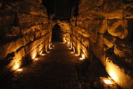Nightly Ancient Roman theatre, Plovdiv, Bulgaria 7.jpg