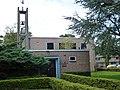 Nijmegen Remonstrantse kerk, Prof. Regoutstraat 23 vanaf Prof Cornelissenstraat gezien.JPG