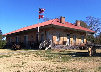 East Tennessee, Virginia and Georgia Railway - Depot in Niota, Tennessee, built in 1854 by the East Tennessee and Georgia Railroad
