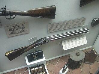 Nock gun - A Nock volley gun in the Charleston Museum 1779-1780