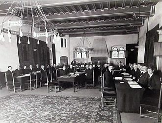 Permanent Court of Arbitration - North Atlantic Fisheries Arbitration at the Permanent Court of Arbitration, Prinsegracht 71, The Hague, 1910.
