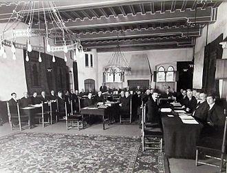 Permanent Court of Arbitration - North Atlantic Fisheries Arbitration at the Permanent Court of Arbitration, Prinsegracht 71, The Hague, 1910.