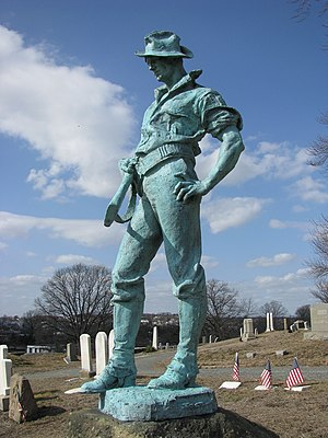 Allen George Newman - The Hiker (1904, cast 1912), North Burial Ground, Providence, Rhode Island