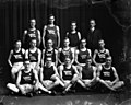 North Carolina State University (NC A&M College) track team, Raleigh, NC, c.1910's. Original glass plate negative is from the J. C. Knowles Collection, PhC.182, State Archives of North Carolina. (8720631341).jpg