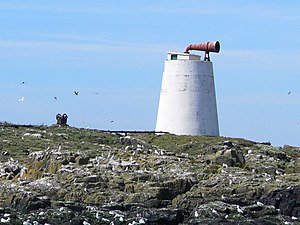 Islands of the Forth - Foghorn on the Isle of May