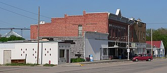 North Loup, Nebraska - Downtown North Loup: north side of 1st Street