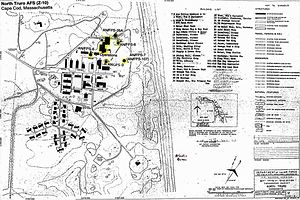 North Truro Air Force Station - A map of the station