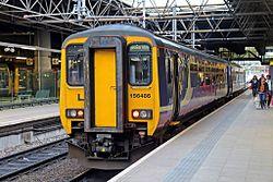 Northern Rail Class 156, 156486, platform 3, Manchester Victoria railway station (geograph 4500526).jpg