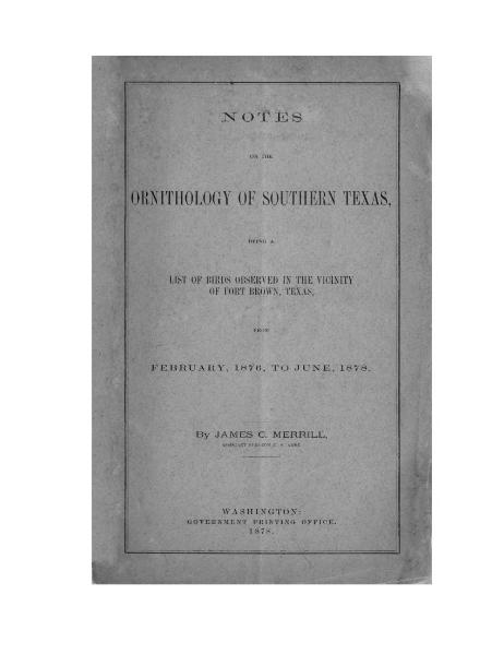File:Notes on the Ornithology of Southern Texas.djvu