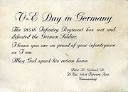 Notice of end of war against German Soldier