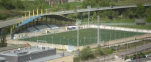 L'Entregu CF - Aerial view of Estadio Nuevo Nalón.