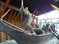Nuu-Chah-Nulth Whaling Canoe sculpture in Port Alberni front.JPG
